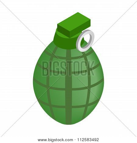Hand grenade isometric 3d icon