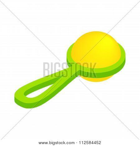 Baby beanbag isometric 3d icon