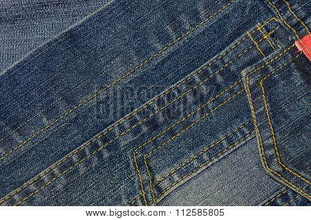 Blue Jean Denim Texture Background.