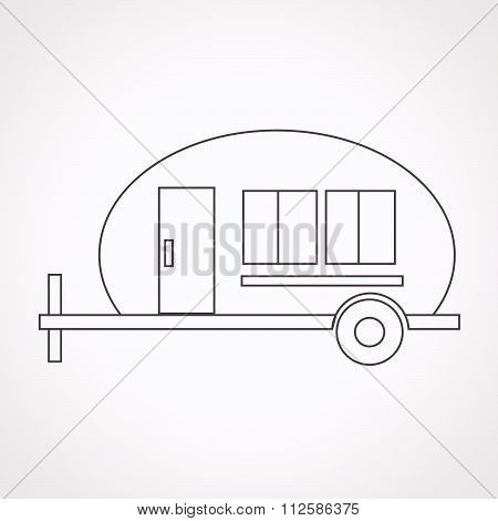 Trailer , Recreation Vehicle Icon