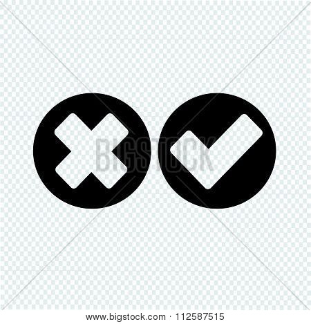 Check Mark Icon Wrong And Right