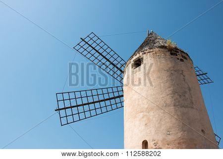 Old Windmill Molino In Santa Catalina, Palma De Mallorca, Spain