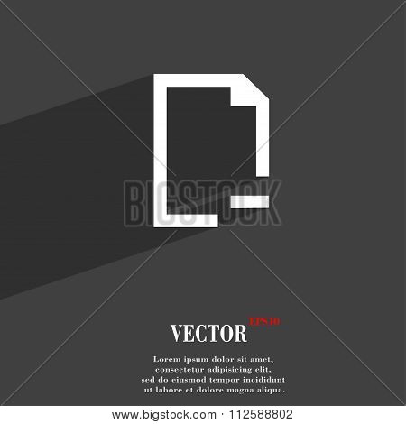Remove Folder Symbol Flat Modern Web Design With Long Shadow And Space For Your Text.