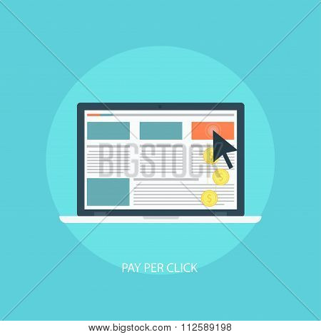 Pay per click vector illustration