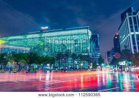 Seoul, South Korea - August 16, 2015: Building Of New City Hall Of Seoul Metropolitan Government Sho