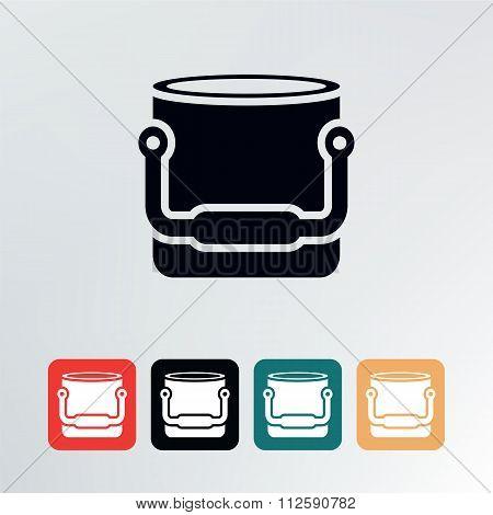 Bucket Icon.