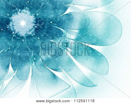 fractal flower snow storm