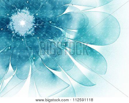 fractal flower snow storm