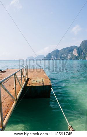 Gangway To Boat On Koh Phi Phi Island, Thailand