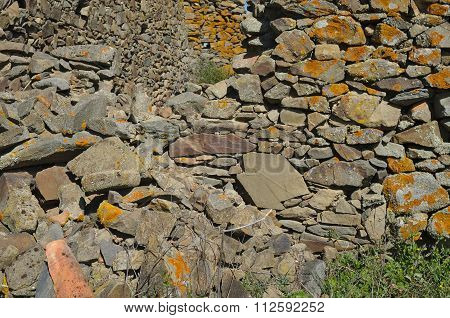 Antique Stone Wall Ruins