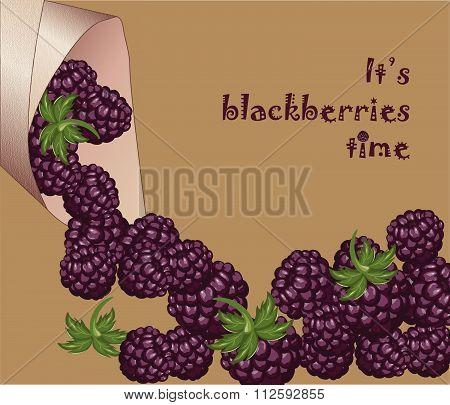 Blackberries fresh and juicy dessert