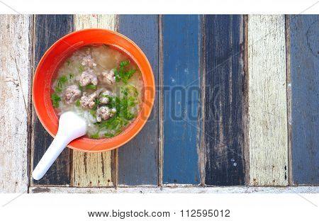 Gruel Pork Soup Breakfast