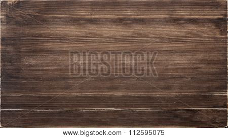 Wooden texture, dark brown wood board.