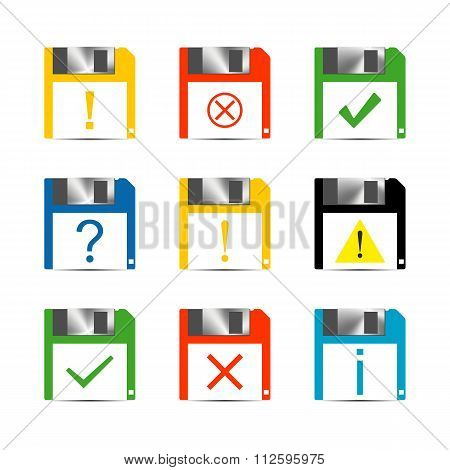 Information Set Of Icons, Vector Illustration.