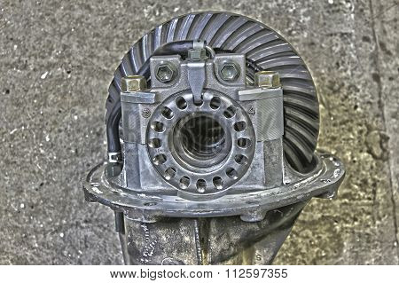 Front Reduction Gear From A Japanese Car In Hdr Effect