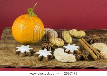 Colorful Christmas Still Life Background