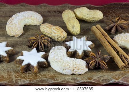 Christmas Cookie And Spice Background