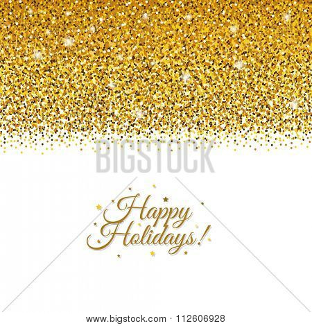 Holiday Postcard With Gradient Mesh, Vector Illustration