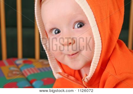 Smile Baby Boy With Hood