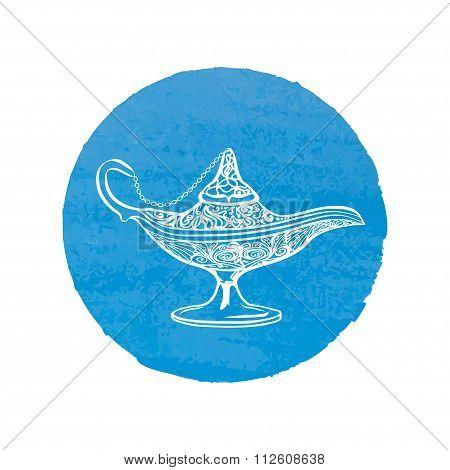 Icon Vector Illustration Genie Lamp