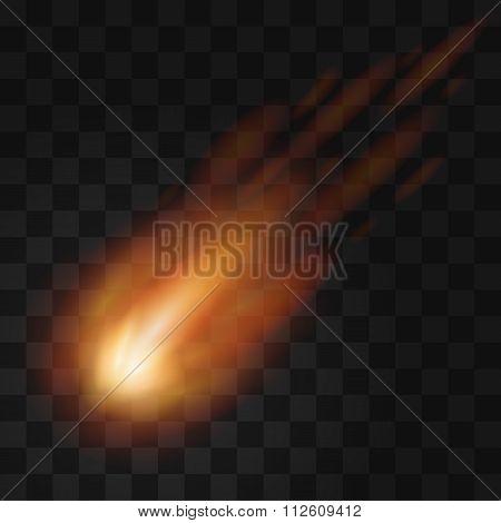 Falling meteor light