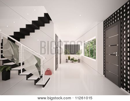 Interieur des modernen Eingangshalle 3D Rendern