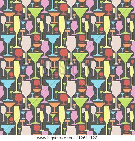 Seamless Party Glass Pattern