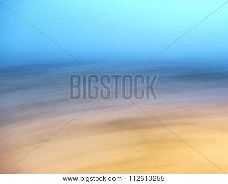 Motion Blur Winter Landscape at Dusk