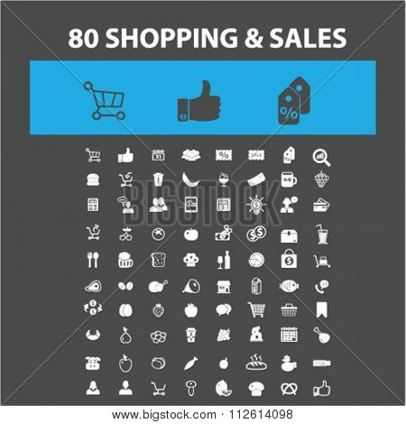 retail, sales icons, supermarket, shopping  icons, signs vector concept set for infographics, mobile, website, application