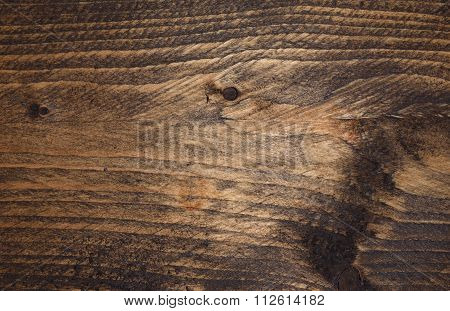 Dark stained wood