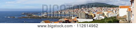 Aerial View From Coast Village Of La Guardia In Galiza Spain