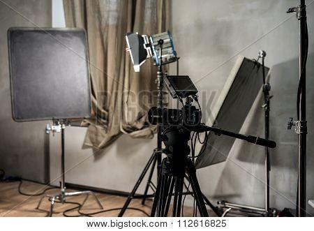 Large Photo Studio With Lighting Equipmen