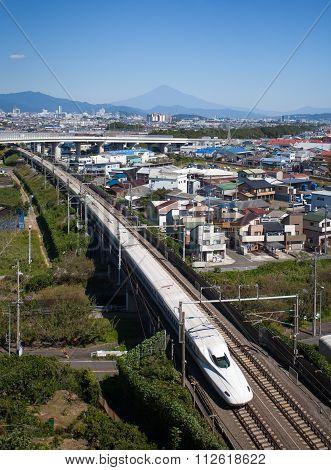 Shinkansen and Mount Fuji