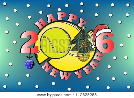 Happy New Year And Tennis