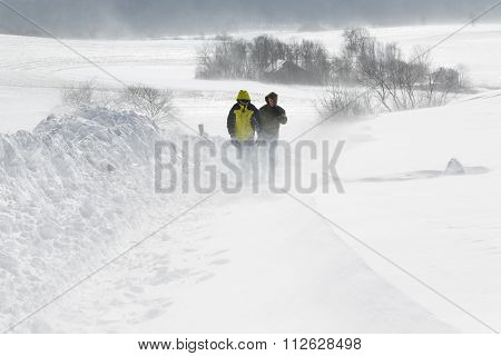 Walking In A Snowstorm