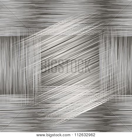 Seamless Geometric Grunge Striped Pattern In Black,white ,grey Colors