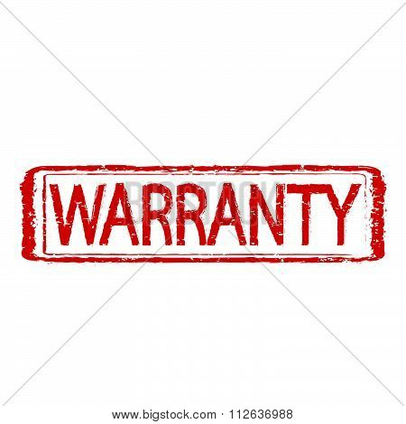 Warranty Stamp Text Illustration