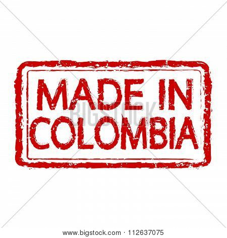 Made In Colombia Stamp Text Illustration