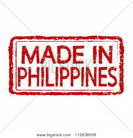 Made In Philippines Stamp Text Illustration
