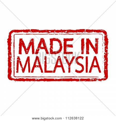Made In Malaysia Stamp Text Illustration