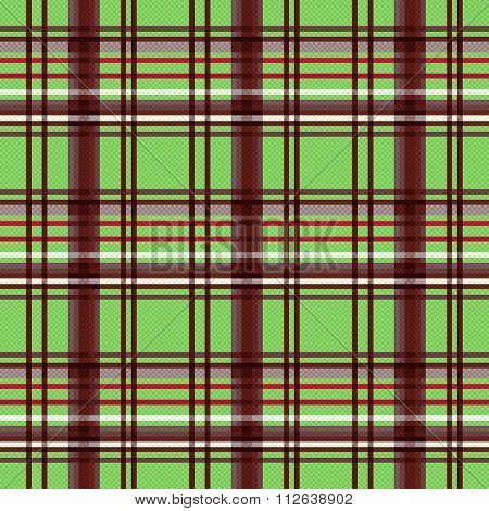 Rectangular Seamless Pattern In Green And Brown