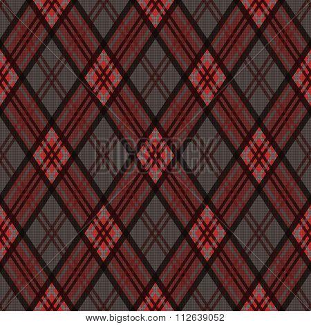 Rhombic Seamless Pattern In Dark Colors