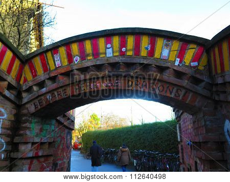 Entry Portal At Freestate Of Christiania