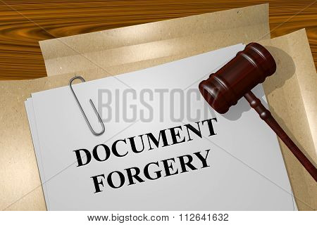 Document Forgery Concept