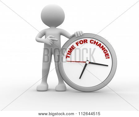 Clock With Words Time For Change