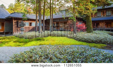 NIKKO, JAPAN - NOVEMBER 16, 2015: Tamozawa Imperial Villa first built in Tokyo in 1632. It was deconstructed and moved to the present location in Nikko, in 1898