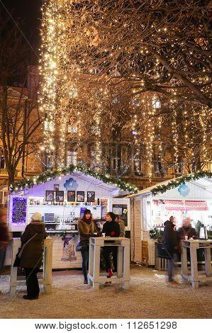 Food Stands In King Tomislav Park