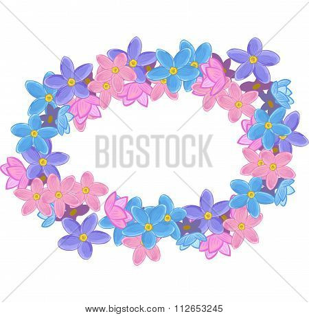 Floral oval wreath