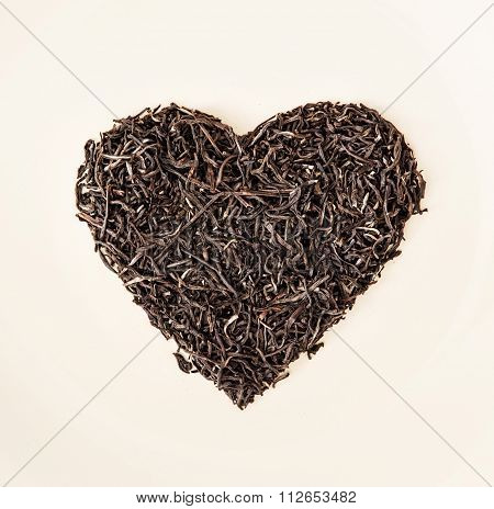 Heart Of Black Loose Tea From Ceylon, Valentine's Day