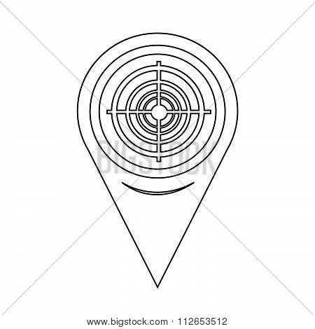 Map Pointer Target Icon